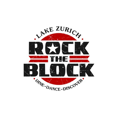 Lake Zurich Rock The Block Logo