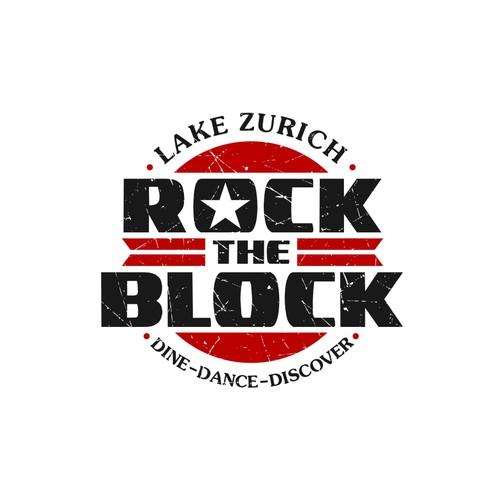 Lake Zurich Rock The Block Logo