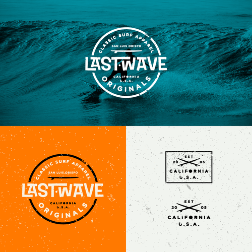Retro Surf Logo for Last Wave