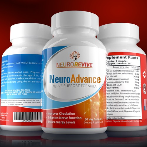 Neuro Advance label design for NeuroRevive
