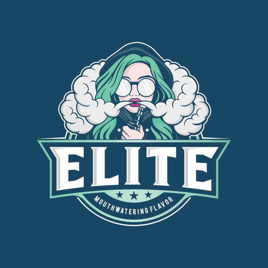 Disposable Vape logo. Magnum - Mouthwatering Flavor.  woman with vape for hair and a watering mouth