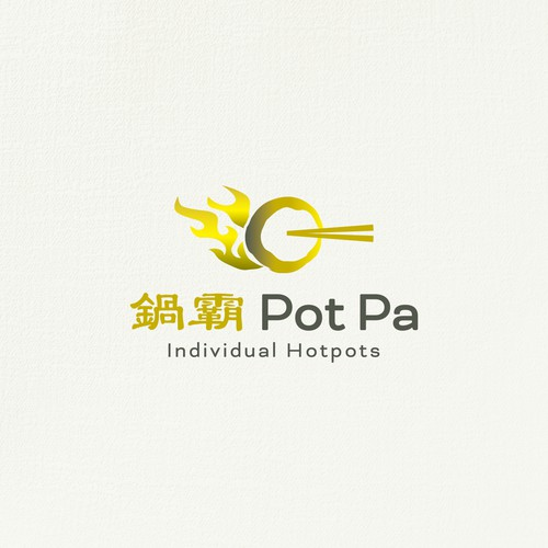 Asian hotpot restaurant logo