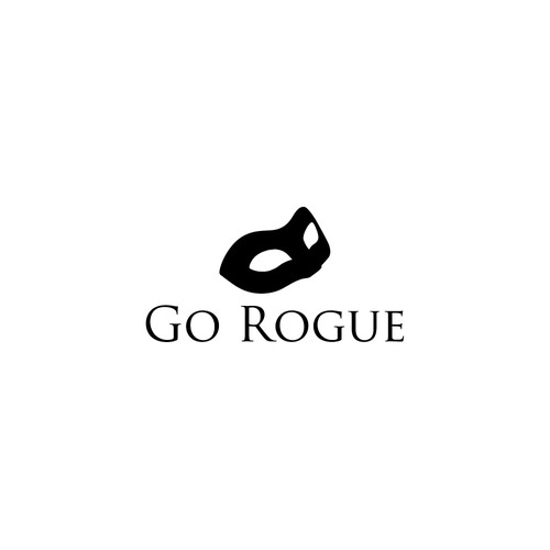 Iconic Female Rogue Logo using 1 or 2 Colors