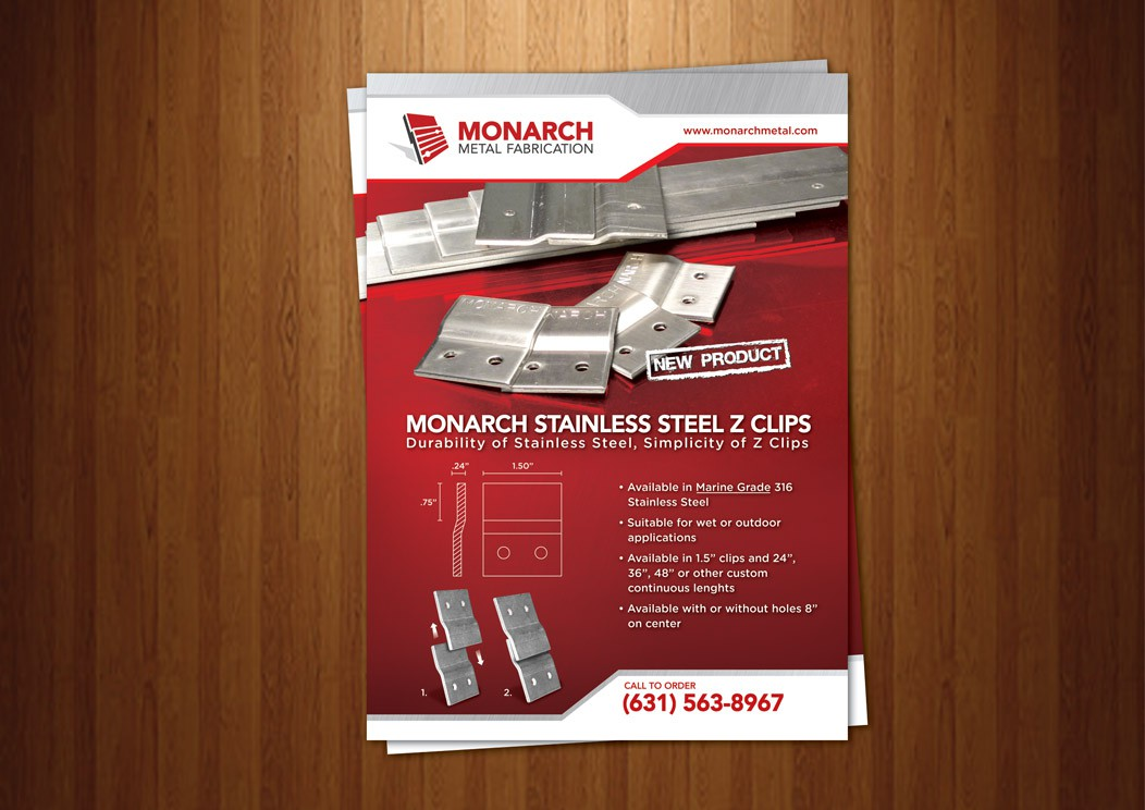 Monarch Metal needs a new brochure design