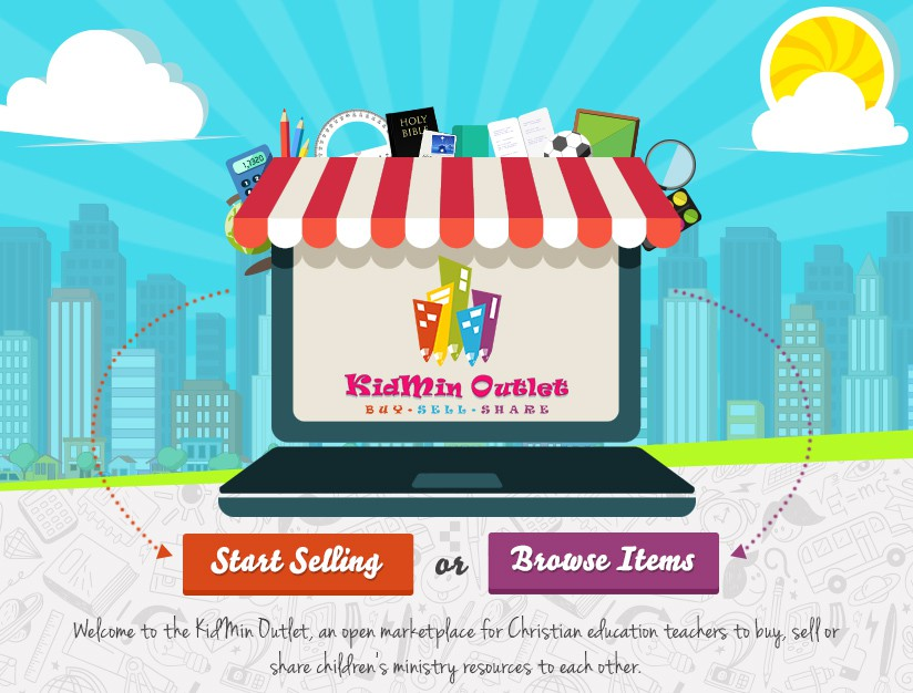 Funky and colorful banner design for new children church ministry website