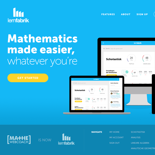 Learning Platform Website Homepage