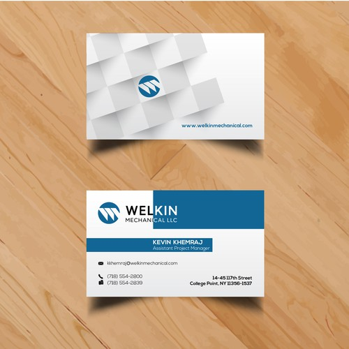 Business Cards for Welkin Mechanical