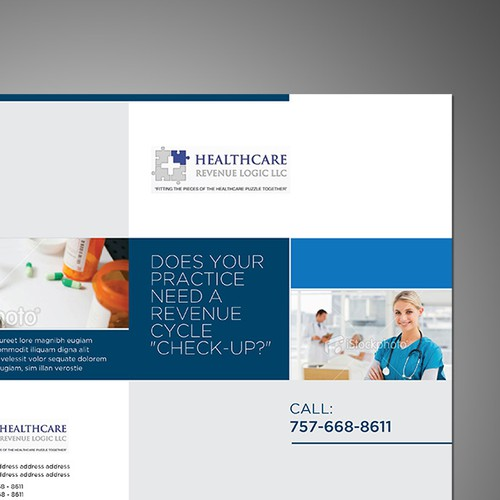 brochure design for Healthcare Revenue Logic, LLC