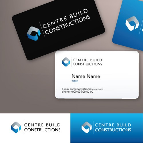 logo and business card for Centre Build Constructions