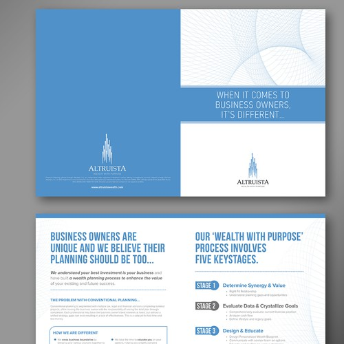 brochure design for Altruista