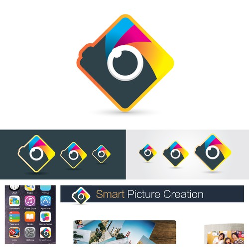 Icon concept for a photo printing app.