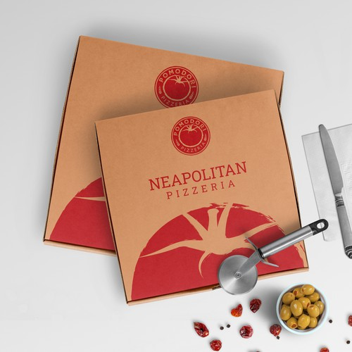 Fun, functional pizza box design concept for Neapolitan pizzeria