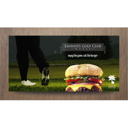 Burger GOLF Poster