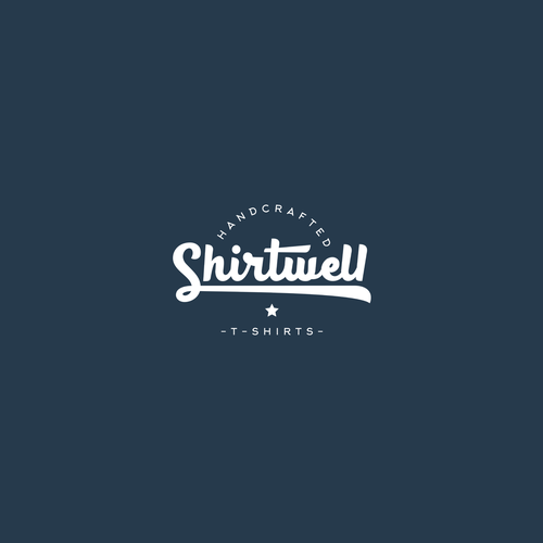 Vintage design for ''Shirtwell'' clothing.