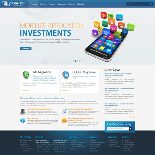 Clerity Solutions needs a new website design