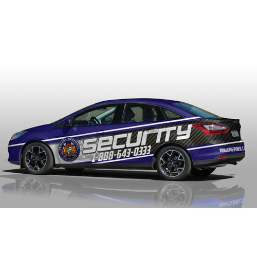 Car Wrap for security company