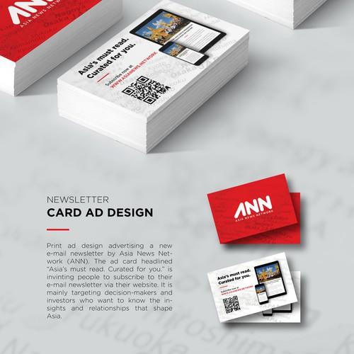Newsletter Card Ad Design