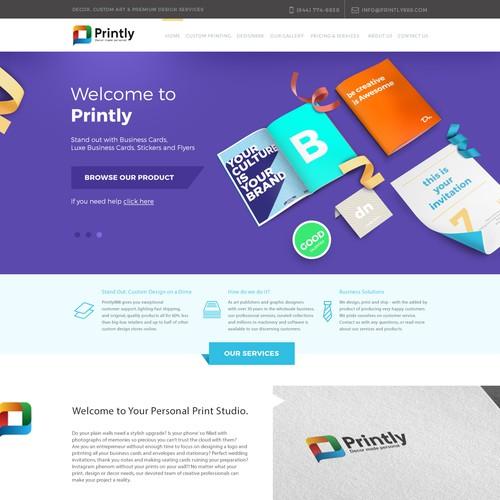 Printly Homepage