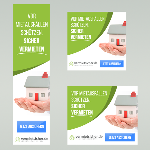 Banner ads design for Vermietsicher.de