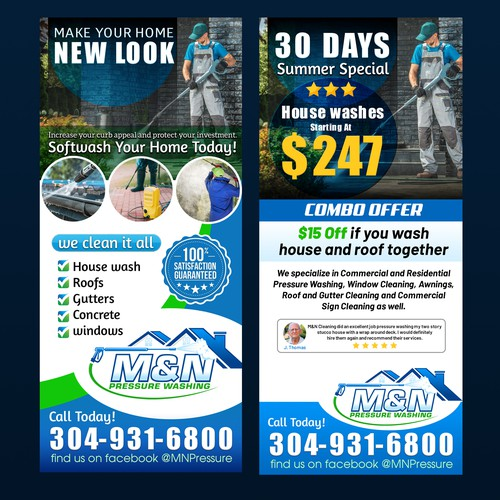 Flyer Design for M&N Cleaning