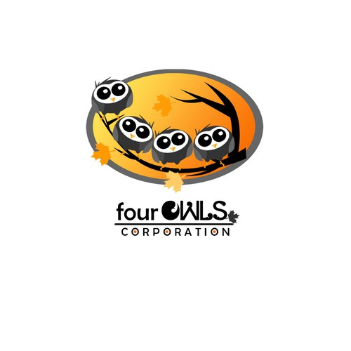 Create the next logo for Four Owls Corporation