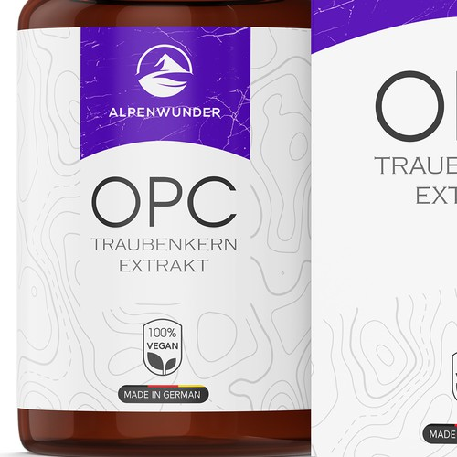 OPC grape seed extract label