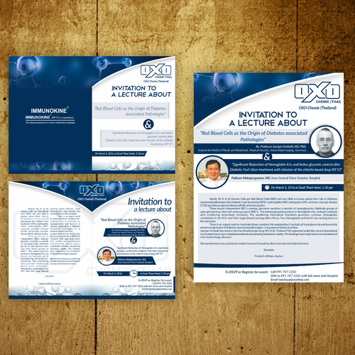 oxo chemie card invitation