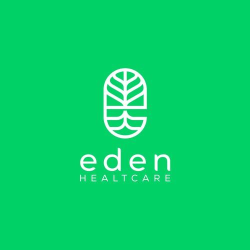 Innovative pharmacy start-up logo for Eden Healthcare