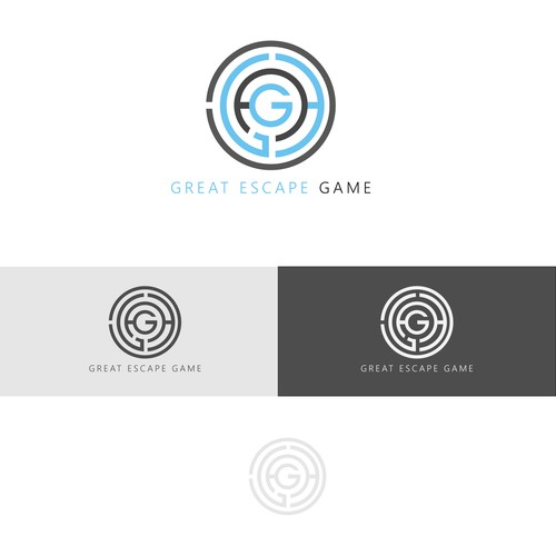 Escape room logo concept