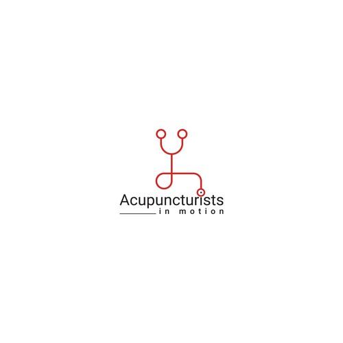 Acupuncturists in Motion logo design