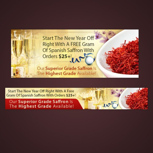 New Years Themed Banner for Spice Sage