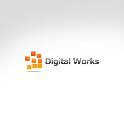 Kickin' Logo for DigitalWorks - SHOW ME THE LOGO!
