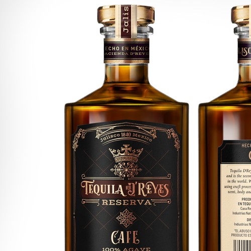 Label Design for Premium Tequila Cafe Liqueur