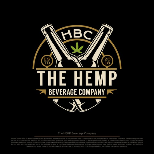 Logo for hemp beverage company