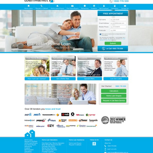Create a lead generating website for Loan Market (Mortgage Broker)