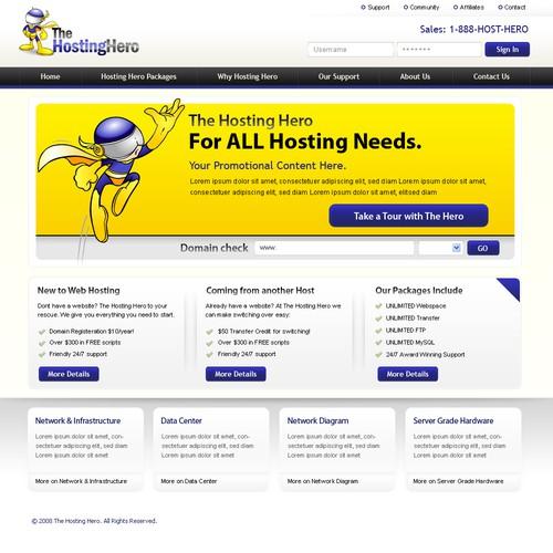 Website for Hosting company