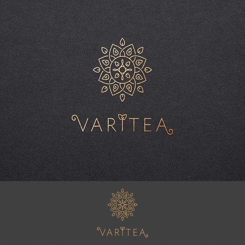 Elegant logo and packaging concept for tea selling company