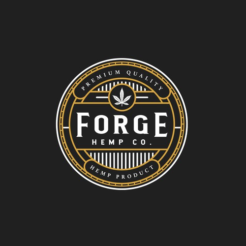 "Logo proposal for premium CBD & Hemp oil Company ""Forge Hemp Co."""