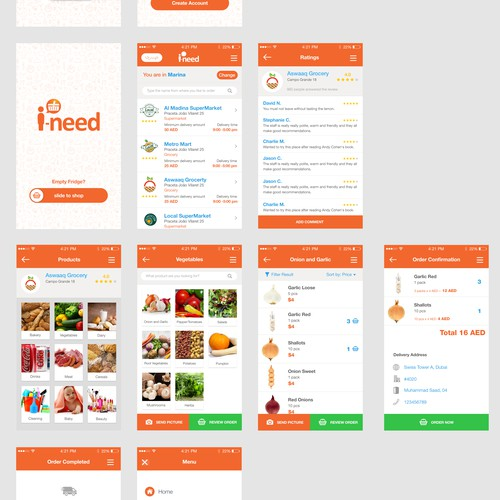 Grocery shopping app re-design