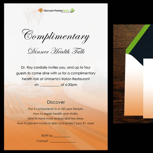 Dinner Invitation - Advanced Holistic Healthcare