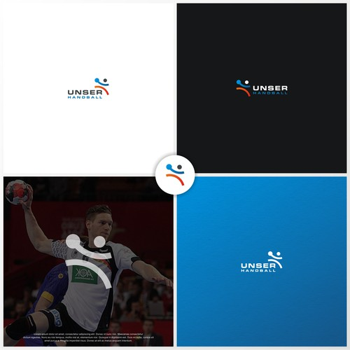 Unser Handball Logo Design