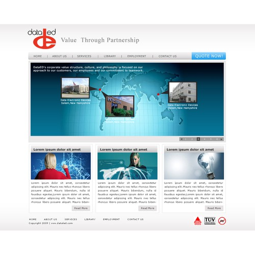 Web Design For Contract Manufacturer