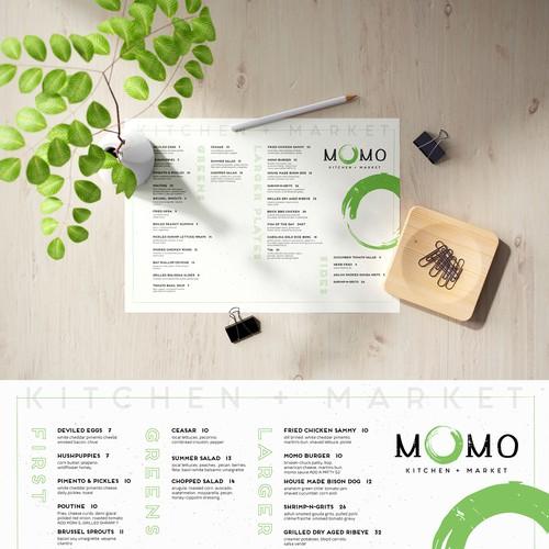 Menu design for a beautiful restaurant