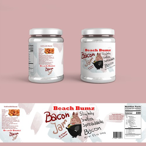 Packaging for bacon jar
