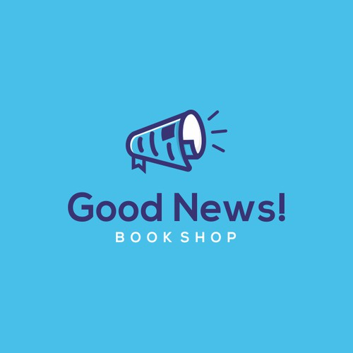 Uplifting New Logo for Good News! Online Book Shop