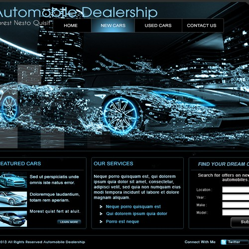 New website design wanted for Automobile Dealership