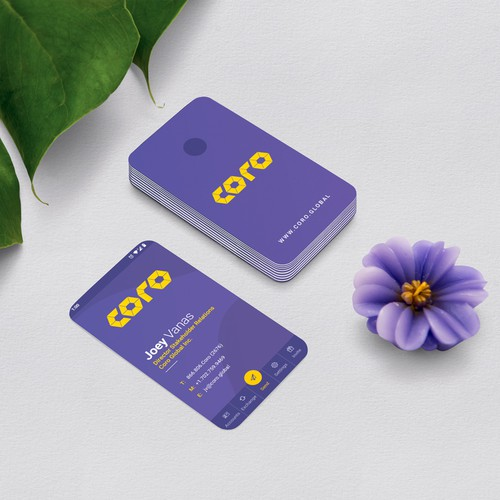 Coro App Business Card Design