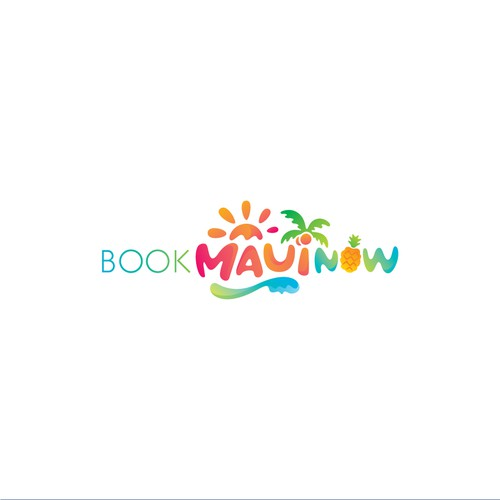 Colorful logo for accommodation rental