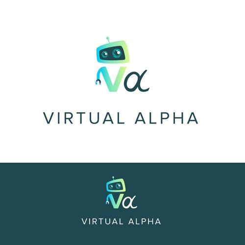 Logo Design for tech company - Virtual Alpha