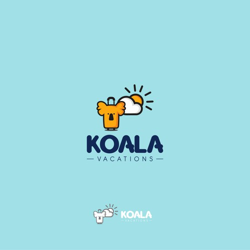Design a beautiful logo for Koala Vacations